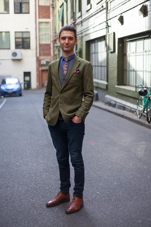 Blazer, Waistcoat, Tie, Pocket Square, Brogues