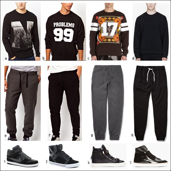 Sweatshirt, jumper, sweatpants, tracksuit, high tops, sports luxe, sneakers, your ensemble, yourensemble, yourensemble.com