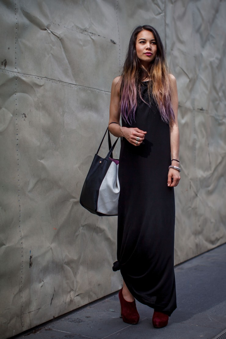 Maxi, dress, Lui Hon, statement back dress, booties, ankle boots, womens wear, street style, your ensemble, yourensemble, yourensemble.com