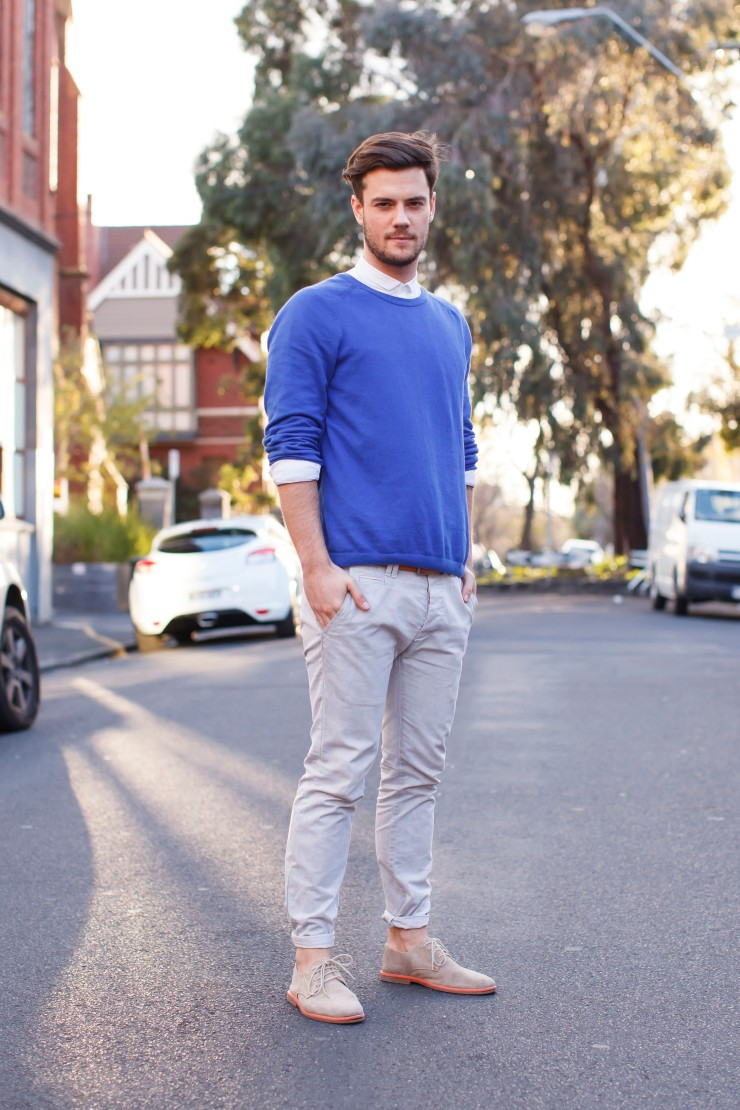 Statement, Jumper, sweatshirt, chinos, contrast sole, derby, menswear, street style, streetstyle, your ensemble, yourensemble, yourensemble.com