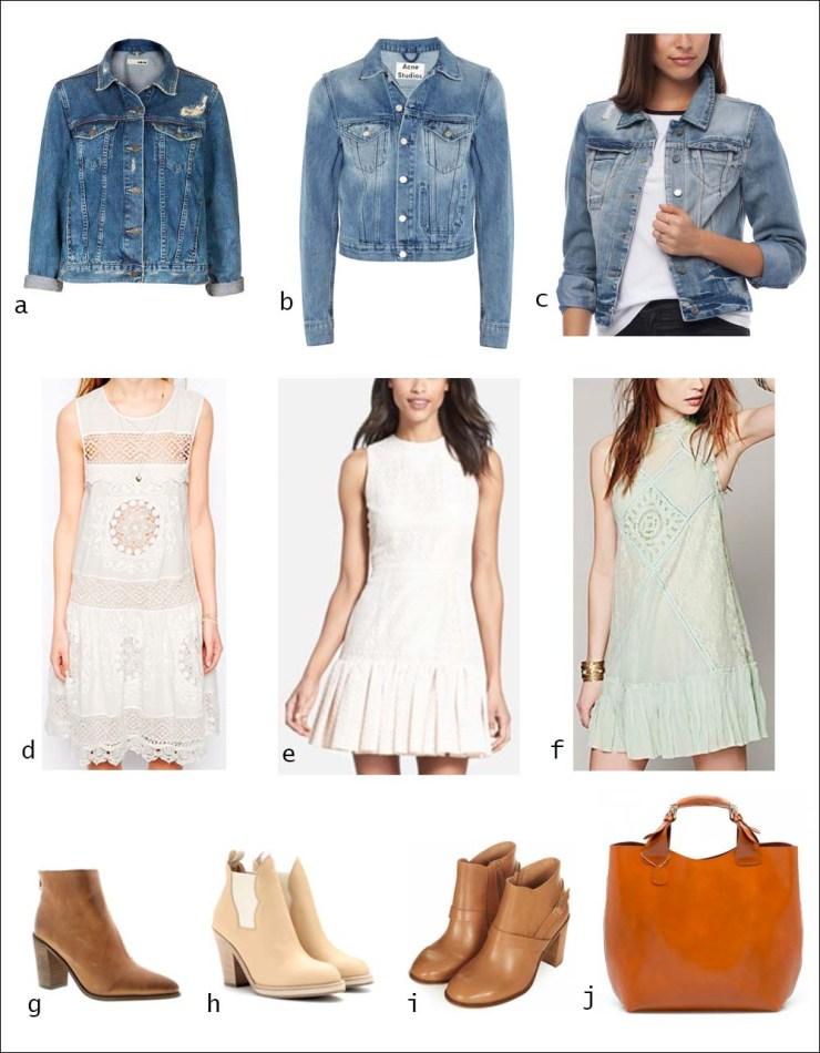 Drop waist, dress, denim, jacket, booties, ankle boots, tote, shopper, womenswear, street style, your ensemble, yourensemble, yourensemble.com