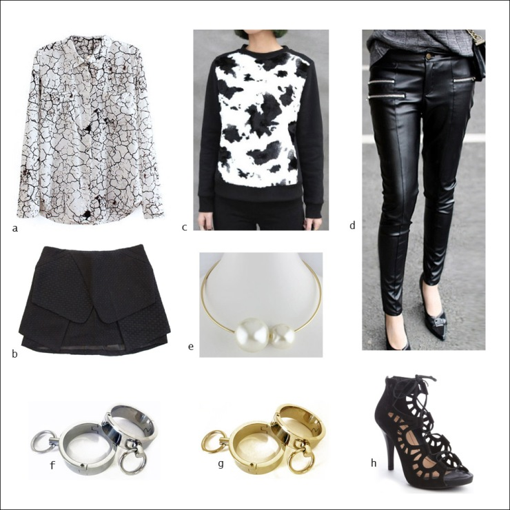 Monochrome, separates, skirt, top, sweater, pants, heels, women's wear, street style, your ensemble, yourensemble, yourensemble.com