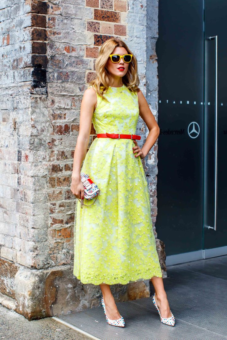 Lace, dress, neon, heels, women's wear, street style, your ensemble, yourensemble, yourensemble.com