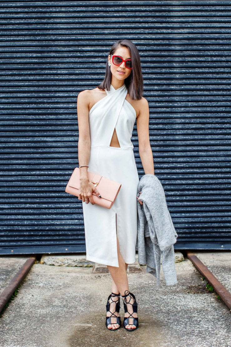Emily Highfield, Cut Out Dress, halter dress, women's wear, street style, your ensemble, yourensemble, yourensemble.com