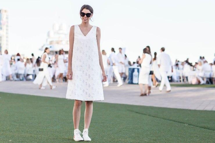 Women's wear, diner en blanc, melbourne, street style, your ensemble, yourensemble, yourensemble.com, monochrome