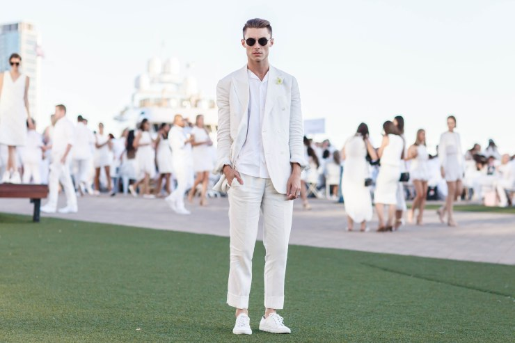 Men's wear, diner en blanc, melbourne, street style, your ensemble, yourensemble, yourensemble.com, monochrome